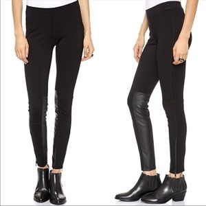 MADEWELL Black Faux Leather Zipper Leggings Size 2